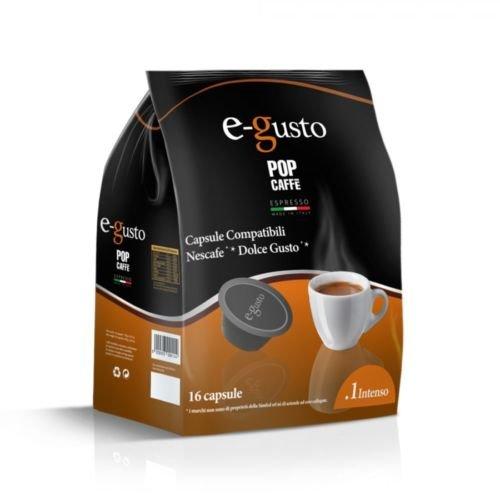 Pop Caffè - 160 cápsulas E-gusto, mezcla 1 intenso, compatibles con Nescafé Dolce Gusto