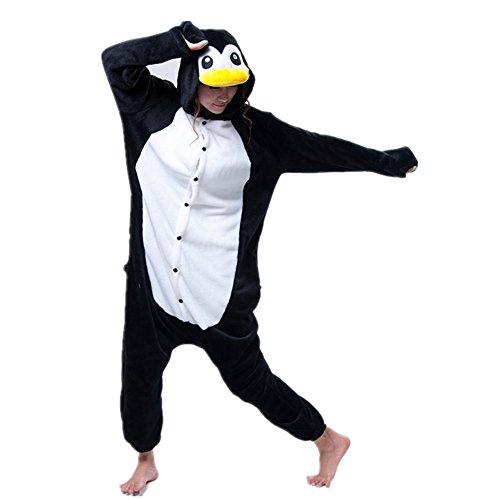 Jysport Licorne Pyjama Kigurumi Unisexe Animal Polaire à capuche Cosplay Costume Pyjama pour enfant, femme, homme pingouin
