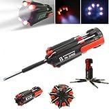 8-in-1 Multi - Funktions Schraubendreher Set Schraubenzieher LED Taschenlampe