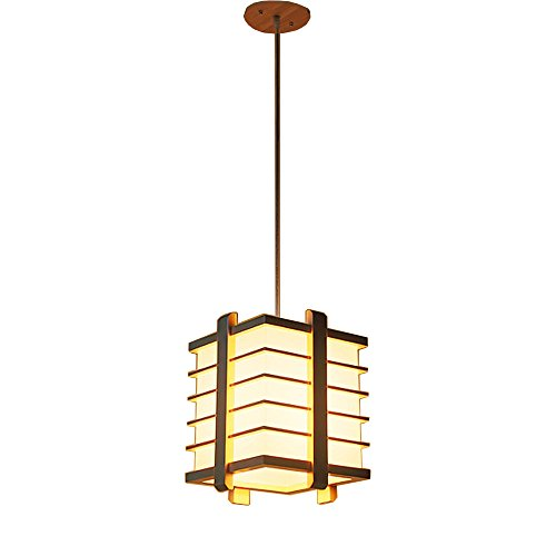 Shubiao Moderna Simple lámpara de Madera sólida Creativo latón Japonesa lámpara Colgante Dormitorio Sala de luz de Techo Coreano