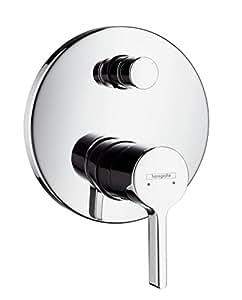 Hansgrohe 31465000 Metris S Set de finition pour mitigeur bain/douche encastré chromé