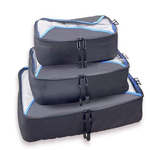 Packwürfel Value Set für Reisegepäck Organizer Bag Compression Pouches Kleidung Koffer Reiseveranstalter schwarz - Rot, Sitzbank Outdoor