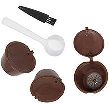 Rellenable Cápsulas de Café reutilizable filtro para sistema de Nescafe Dolce Gusto Pack de 3