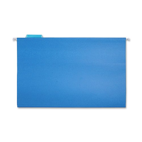 Sparco Hanging Folder, 1/5 Tab Cut, Legal, 25/Box, Blue