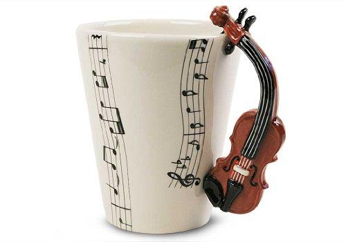Geige Geschenke, Kaffeetasse Handgefertigt von Blue Witch