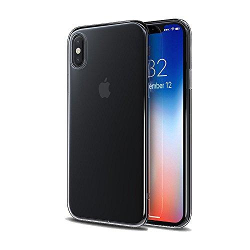 bacama Premium gehärtetes Glas Displayschutzfolie für Apple iPhone Ultra klarem kratzfestem Rund Edge HD H9Härte, iPhone X