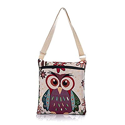 Da.Wa Bohemian Elephant Embroidered Pattern Shoulder Bag Ethnic Style Crossbody Bag : everything five pounds (or less!)
