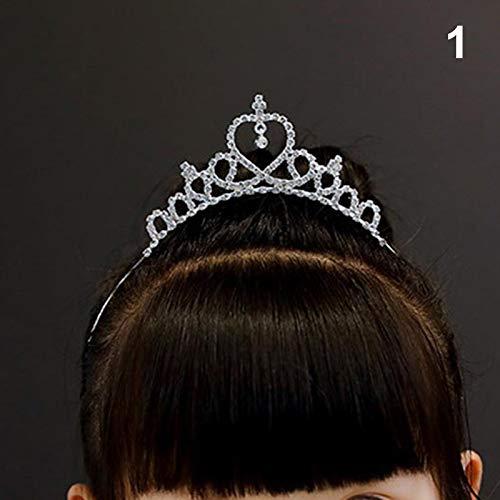 Xiaoxiao Mädchen krönt Diademe Abschlussball Geburtstagsfeier Hochzeitsdiadem Prinzessin Crown