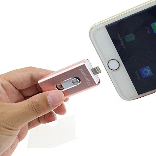 Escomdp iPhone Lighting USB-Stick 16GB Jump Thumb Drive Speicherstick Pen Drive für Computer, iPhone Apple IOS und Android Smartphones (8GB, Rosa)
