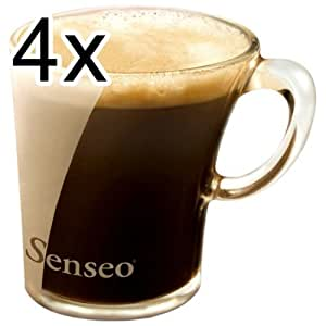 4x senseo tasse en verre design verre opale 150 ml cuisine maison. Black Bedroom Furniture Sets. Home Design Ideas