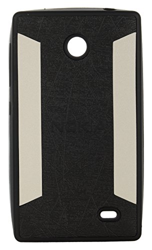 iCandy™ 2 Color Soft Lather Finish Back Cover For Nokia X / X+ - Black  available at amazon for Rs.115
