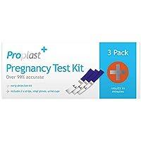 Preisvergleich für Hochpräzise Schwangerschaftstest Streifen -3 Streifen/Packung inkl. vinyl Handschuhe und Urinbecher -