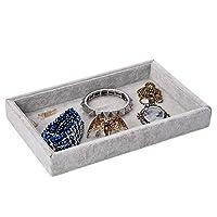 Mogokoyo Velvet Jewelry Display Tray Elegant Jewelry Organizer Box, Rings Earrings Bracelets Necklaces Storage Holder