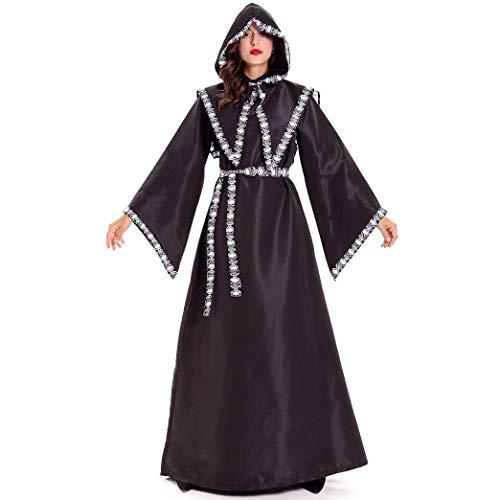LBFKJ Rollenspiele, Männer und Frauen Rollenspiel Mantel Gott Hexe Uniform Schwarze Roben Kostüme, Halloween Party Kostüme