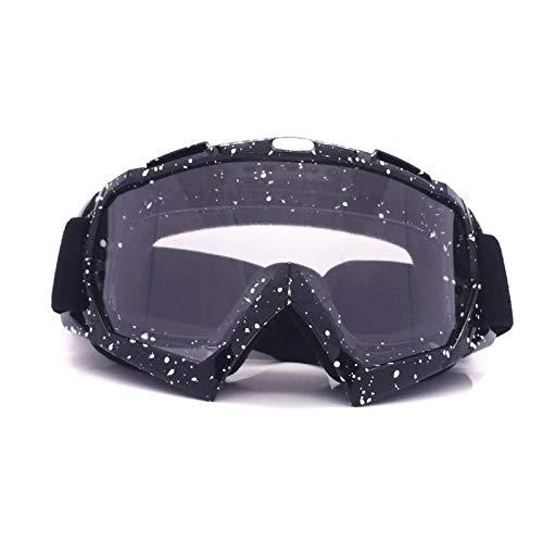 Adisaer Schutzbrille Mit Sehstärke Motorradausrüstung Off Road Brille Skibrille Brille Helm Reiten Outdoor Brille Black White Transparent Damen Herren