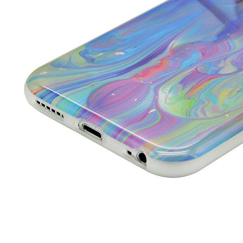 iPhone 8 Hülle, iPhone 8 Marmor Handyhülle, iPhone 8 Marble Hülle, Sunroyal Marmor Serie Flexible TPU Silikon Schutz Handy Hülle Handytasche HandyHülle Schale Case Cover Schutzhülle für Apple iPhone 7 Farbe 38