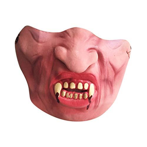 Huacat Halloween Maske realistisch Voller Kopf Maskerade für Cross Dresser Cosplayer Mann Maske Halloween (Promi Ideen Für Kostüm)