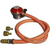 NEW PROPANE GAS REGULATOR HOSE & CLIP FOR BBQ CAMPING