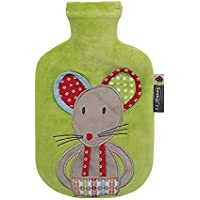 Fashy - Kinderwärmflasch mit Bezug Kuschelbezug Maus in grün preisvergleich bei billige-tabletten.eu