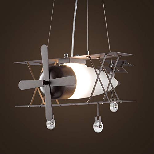 Illuminazione lampadario per aeromobili ristorante creativo lampadario a soffitto singola testa in ferro battuto negozio di abbigliamento in vetro camera dei bambini lampadario luci interne