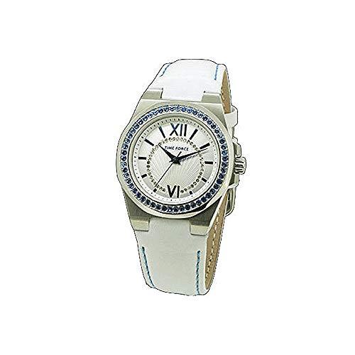 Time Force Reloj Analógico para Mujer de Cuarzo con Correa en Cuero TF4161L03