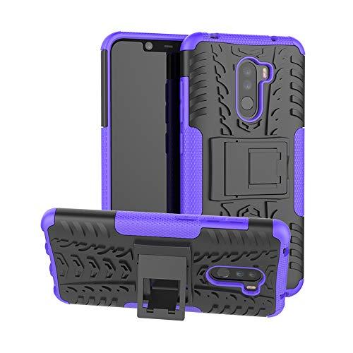 Lucky phone Cover Xiaomi Pocophone F1,Custodia 360 Gradi Silicone Slim Case Cover custodie [TPU, Antiurto, Antiscivolo] Cellulare Stilosa Protettiva Bumper per Xiaomi Pocophone F1,Porpora