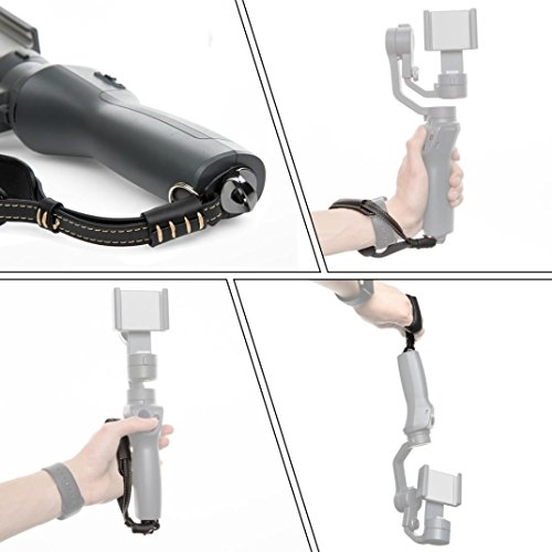 IGEMY Retro Handschlaufe Lanyard Gürtel für DJI OSMO Smartphone Gimbal (Schwarz) (Drohne Hubschrauber Für Go Pro)