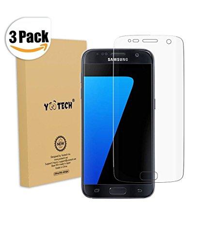 Galaxy S7 Protector de pantalla [cobertura total], Yootech [3 Unidades] [anti-bubble] [HD...