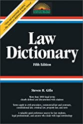 Law Dictionary: Fifth Edition (Law Dictionary) by Steven Gifis (2003-08-01)