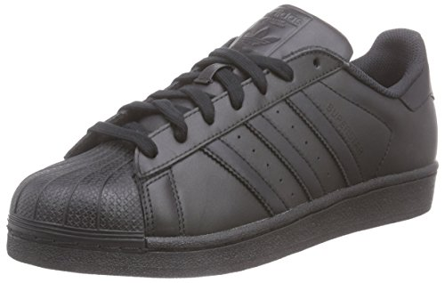 adidas Originals Superstar Foundation, Herren Sneakers, Schwarz (Core Black/Core Black/Core Black), 42 2/3 EU (8.5 Herren UK) (Adidas Schwarze Superstar)