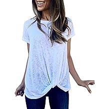 Camisas Mujer Verano ,❤ Modaworld Camiseta Casual Manga Corta Mujer Blusas para Mujer Elegantes