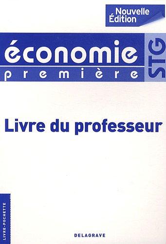 Économie 1re Stg Professeur