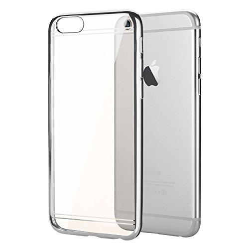 """Coque iPhone 6 / 6s (4.7""""), EnGive Housse étui de protection en silicone Couleur électrolytique pour iPhone 6 / 6s (4.7"""")(Doré) Bumper_Silber"""