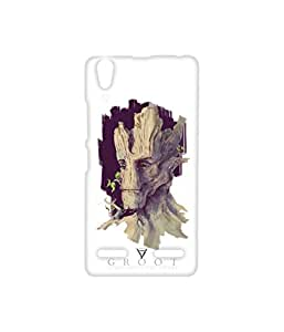 Vogueshell Groot Printed Symmetry PRO Series Hard Back Case for Lenovo A6000 Plus