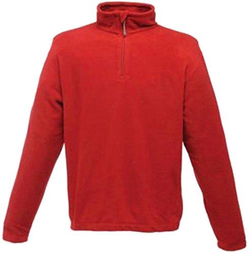 Regatta Microfleece-pullover con chiusura lampo quarti Rosso