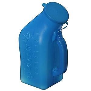 Urinflasche 1Ltr.fuer Maenner Urin Flasche Urinente Urinal Pflege Blau