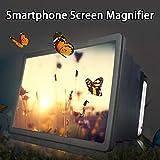 HNOOSTER - Videocamera 3D Portatile, Universale, ingrandire, Schermo per Telefono Intelligente, con Supporto Portatile