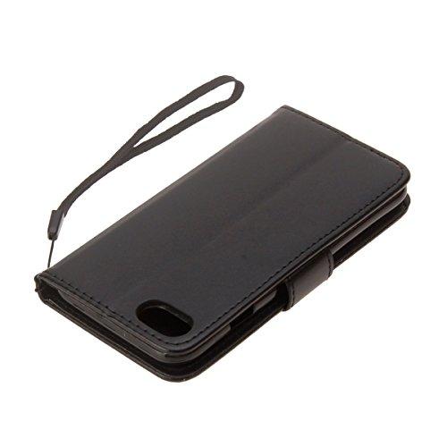 Cover per iPhone 6 Plus/iPhone 6s Plus (5.5), EUWLY Portafoglio Custodia in Pelle Protettiva Cover Case Per iPhone 6 Plus/iPhone 6s Plus (5.5) Premium Retro Morbido PU Leather Wallet Cover Supporto  Nero