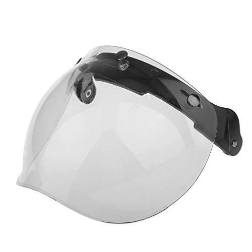 Sharplace Moto 3 Scatto Visiere Casco Scudo Flip Up Lente Giù Per Harley,1 Set - Chiaro