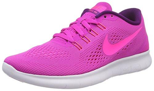 Nike Wmns Free RN Damen Turnschuhe, Pink (Pink/Pink Blast- Weiß-Blau Glow), 40 EU