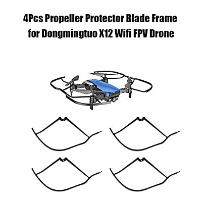 XuBa 4Pcs Rc Drone With Camera Propeller Protector Blade Frame For X12/S163 Wifi Fpv Drone Rc Quadcopter Parts Birthday Christmas Xmas Gift Present for Kids