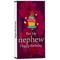 Chocholik Birthday Day Gift – for My Handsome Nephew 70% Dark Belgium Chocolate Bar - 100gm (3.5Oz)