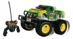 Dickie RC Dino Hunter RTR 1:24 Ferngesteuert Auto Fahrzeug Spielzeug Dinosaurier: Farbe: Grün 27 MHz