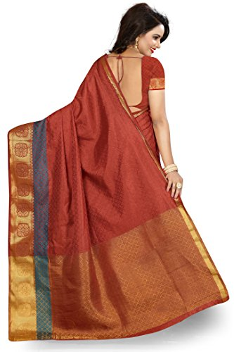 Banarasi Saree(Dealsure Women's Multicolor Banarasi Saree)