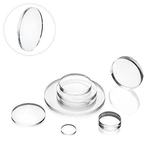 EH Design Acryl Zuschnitt/Plexiglas Platte transparent, rund Acrylglas 3 mm dick 100 mm Durchmesser XT Plexi Glas (3 Stück)