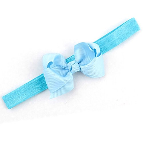 Baby Toddler Infant Bowknot Headbands Elastic Hair Band Simple Soft Pure Color Headwear Fabric