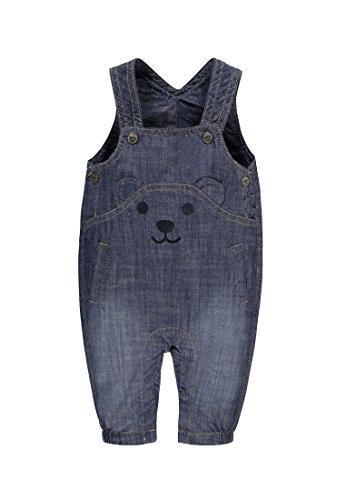 Steiff Baby-Mädchen Latzhose Jeans 6712002, Blau (Blue Denim 0013), 62