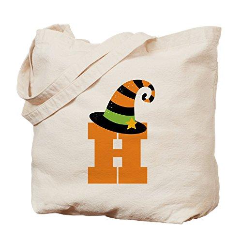 CafePress Halloween-Buchstabe H Hexe Monogramm Tragetasche, canvas, khaki, S