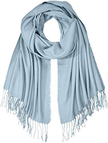 PIECES Damen Schal PCKIAL Long Scarf NOOS, Blau (Dusty Blue), One Size