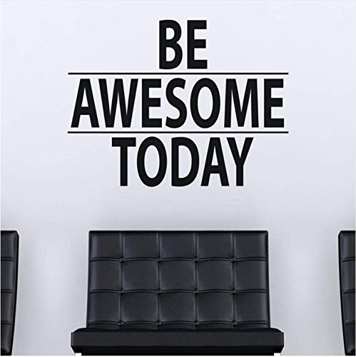 Huasu be awesome today citazione motivazionale vinile wall sticker home decor decalcomania soggiorno fai da te arte murale wallpaper57 * 75cm